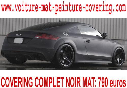 Le noir mat vous permettra de personnaliser votre voiture.