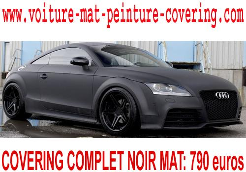 Pour un modèle unique, optez pour le covering noir mat.
