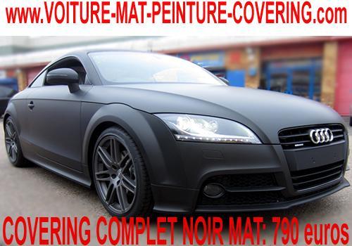 Le covering noir mat fera sensation sur votre vehicule.