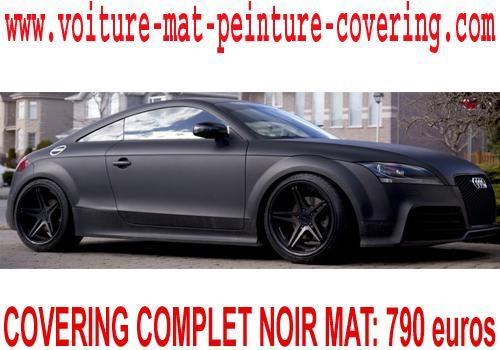 Le covering noir mat donnera un look racing a votre voiture.