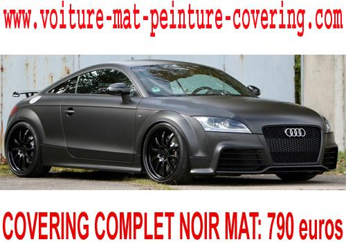 Le covering noir mat s'adapte à toutes les automobiles.