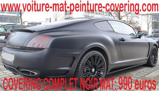 Le covering noir mat va booster le look de votre véhicule !