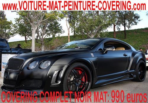 Recouvrez toute votre carrosserie avec cet adhésif en noir mat.