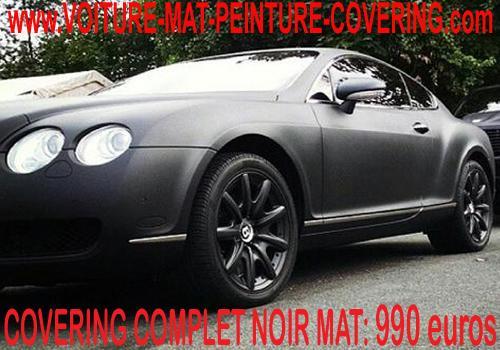 Avec le noir mat, vous avez le produit idéal pour votre auto.