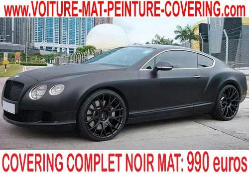 Personnaliser votre véhicule, changer sa couleur avec le noir mat.