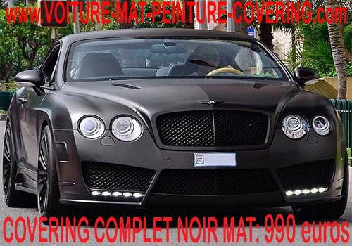 Réalisez votre Car Wrapping avec du noir mat et embellisez votre auto.