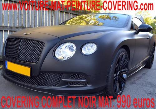 Film covering noir mat  pour un recouvrement de votre véhicule.