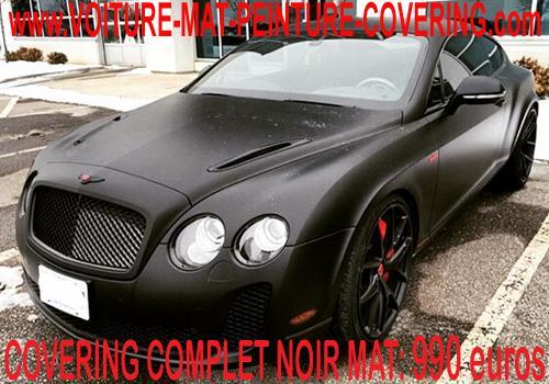 Le noir mat pour le covering différenciera votre vehicule des autres.