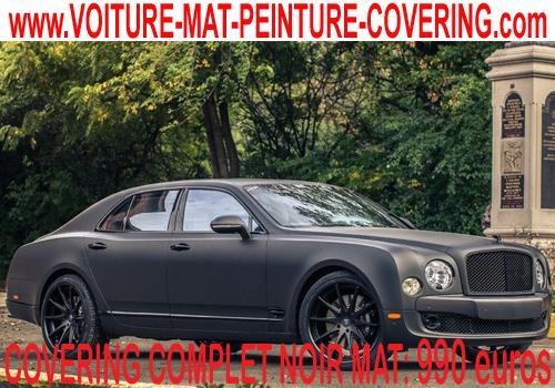 Le covering noir mat vous permettra d'avoir une voiture extra!