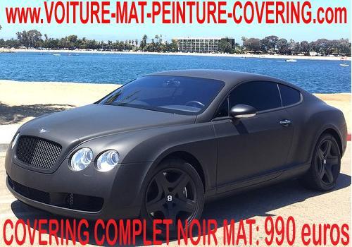 L' originalité, la tendance et l'élégance: c'est le covering noir mat