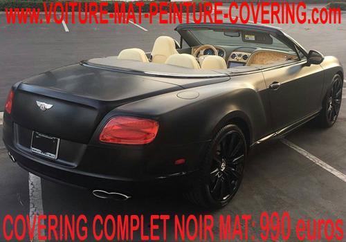 Avec un covering noir mat, donnez un look incroyable à votre auto!