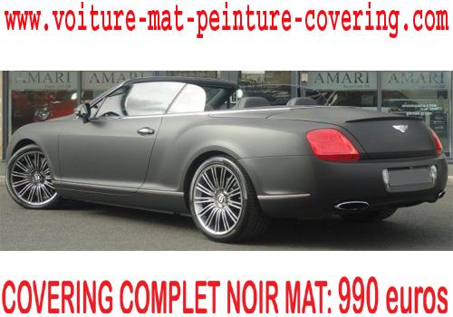 Le noir mat pour le covering est un must have.