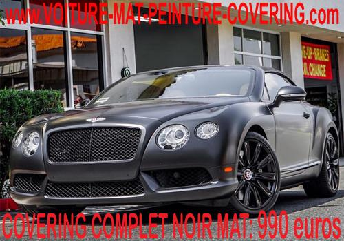 Le covering noir mat sur votre véhicule lui donnera une élégance.