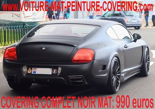 Le covering noir mat convient à tous les types de véhicules.