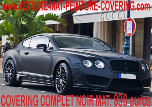 Le covering noir mat est exclusif et vous permettra de vous démarquer.