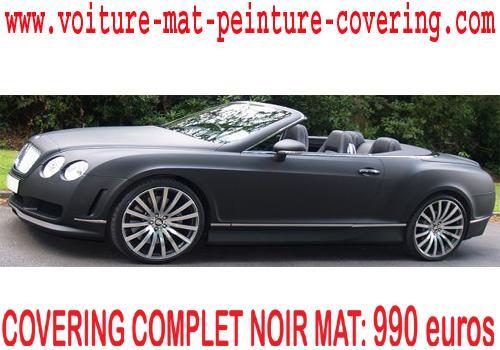 Le Covering d'aspect noir mat sert à embellir votre auto.
