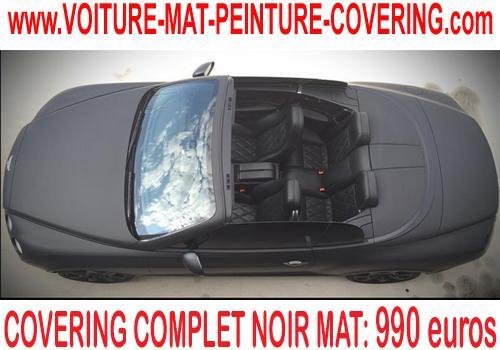 Vous voulez une personnalisation de votre auto : covering noir mat.