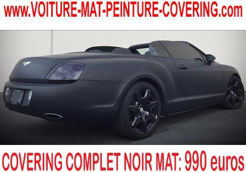 Le noir mat est une option convoitée par les fanas de voiture.