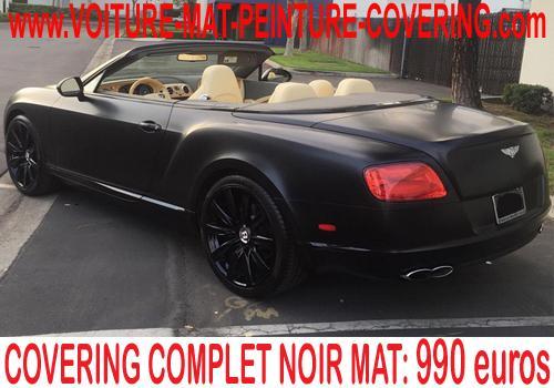 Avec le noir mat, votre voiture retrouvera une allure atypique.