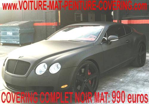 La solution pour le covering de votre véhicule est le noir mat.