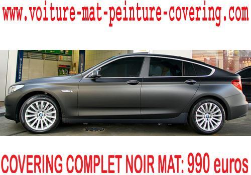 Le noir mat permet d'obtenir une couleur haute qualité sur votre auto.