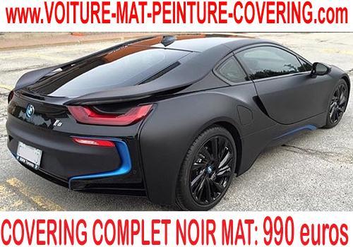 Le noir mat est la couleur par excellence pour réaliser un covering.