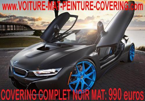 Personnalisez votre véhicule avec un covering noir mat.