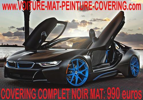 Sobre et stylé racing, votre covering noir mat fera sensations.