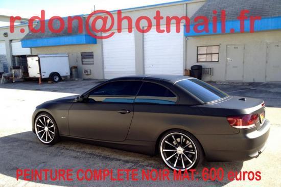 BMW Serie 3 noir mat, BMW Serie 3 noir mat, BMW Serie 3 noir mat