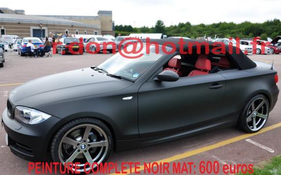 BMW Serie 1 noir mat, BMW Serie 1 noir mat