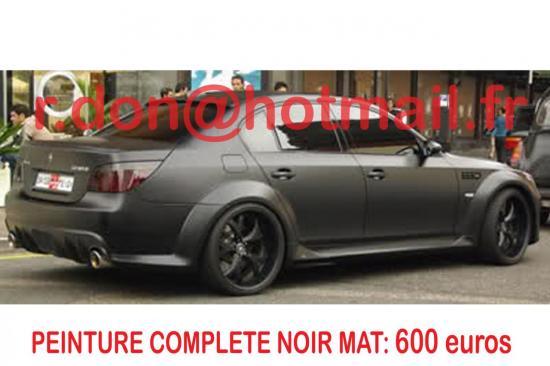 BMW Serie 5 noir mat, BMW Serie 5 noir mat, BMW mat