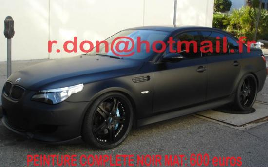 BMW Serie 6 noir mat, BMW Serie 6 noir mat