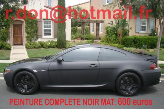 BMW Serie 6 noir mat, BMW Serie 6 noir mat, BMW mat