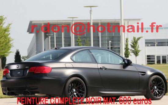 BMW Serie M3 noir mat, BMW Serie M3 noir mat