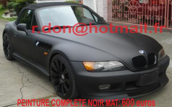 BMW Z3 noir mat, BMW Z3 noir mat, BMW mat