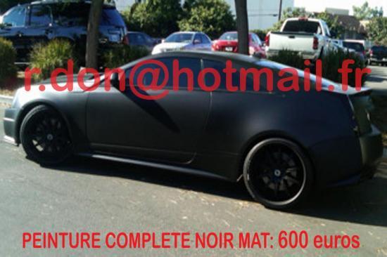 Cadillac CTV noir mat, Cadillac CTV noir mat