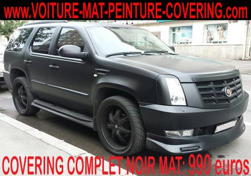 Vous pouvez personnaliser votre véhicule grâce au covering noir mat.