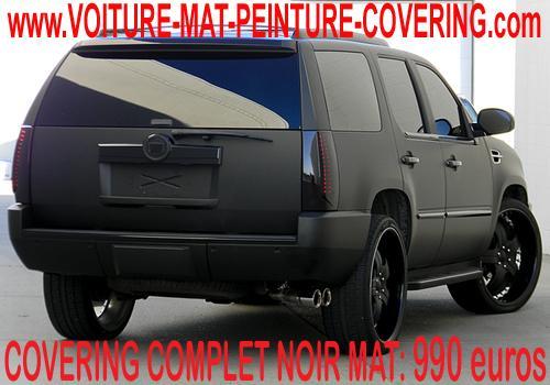 La touche de luxe inévitable est le noir mat.