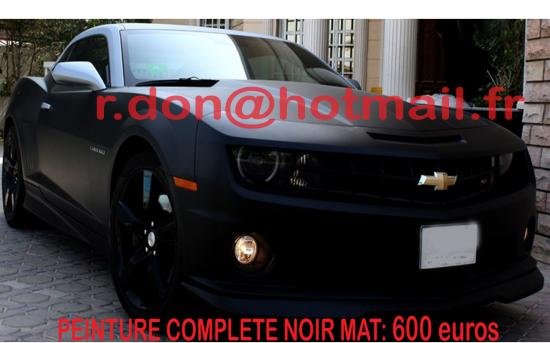 Chevrolet Camaro noir mat, Chevrolet Camaro noir mat, Chevrolet mat