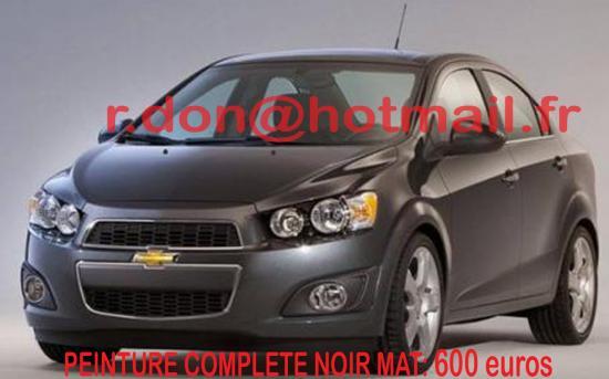 Chevrolet noir mat, Chevrolet noir mat, Chevrolet mat