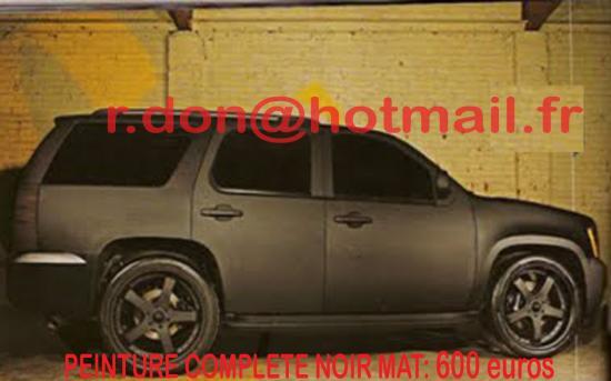 Chevrolet Tahoe noir mat, Chevrolet Tahoe noir mat, Chevrolet mat