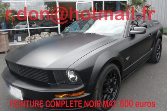 Mustang noir mat, Mustang noir mat