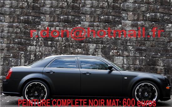Chrysler 300C noir mat, Chrysler 300C Covering noir mat
