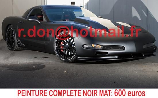 Corvette noir mat, Corvette noir mat, Corvette noir mat