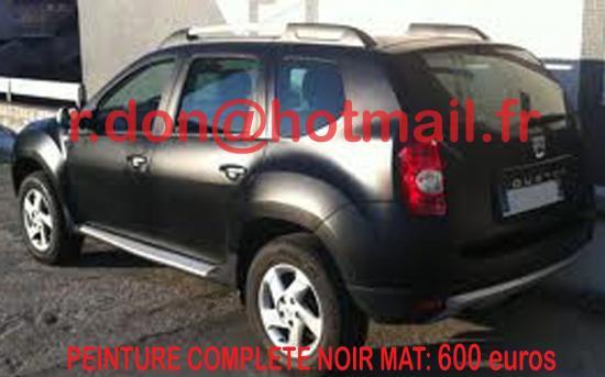 Dacia Duster noir mat, Dacia Duster noir mat, Dacia mat