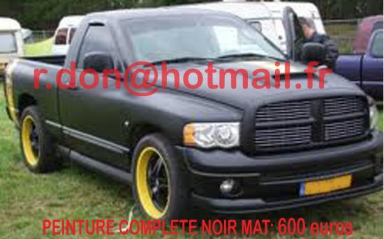Dodge RAM noir mat, Dodge RAM noir mat