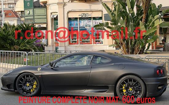 Ferrari 360 Modena noir mat, Ferrari 360 Modena noir mat, Ferrari mat