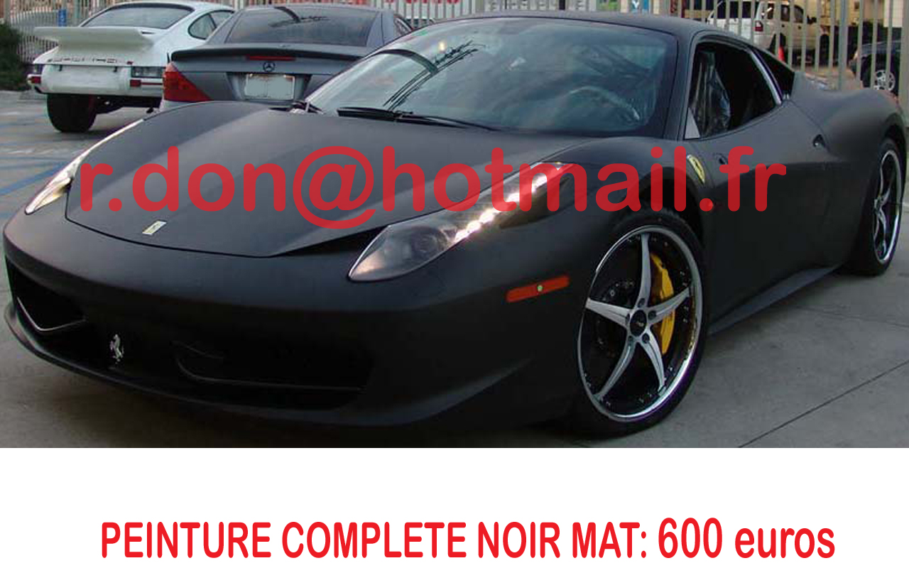 ferrari 458 italia noir mat ferrari 458 italia noir mat. Black Bedroom Furniture Sets. Home Design Ideas
