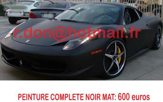 Ferrari 458 Italia noir mat, Ferrari 458 Italia noir mat