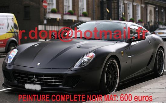 Ferrari 599 GTB noir mat, Ferrari 599 GTB noir mat, Ferrari noir mat